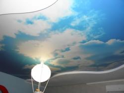 фото натяжного потолка в детской комнате - 10