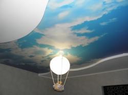 фото натяжного потолка в детской комнате - 11