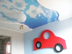 фото натяжного потолка в детской комнате - 13