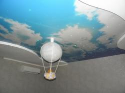 фото натяжного потолка в детской комнате - 5